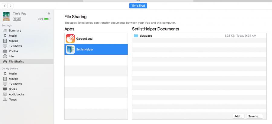 Import and Export Lyrics in Setlist Helper for iOS | Setlist